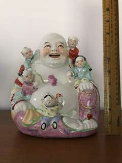 Jing De Zhen Laughing Buddha porcelain figurines collectible