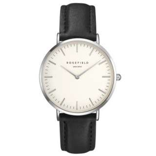 Rosefield - The Bowery Series (Black/White/Silver) 38mm