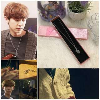 [READY STOCK] EXO CHANYEOL MUSIC NECKLACE