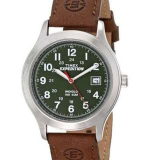 TIMEX T40051 Expedition Brown Leather Suede Strap