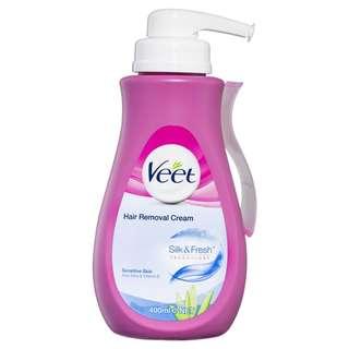 Veet In Shower Hair Removal Cream Sensitive 400ml