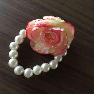 Rose Pearly Bracelet