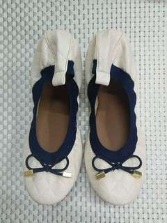 White and blue ballet shoes