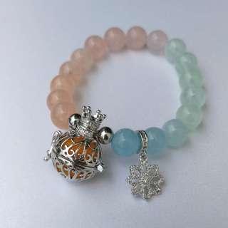 Morganite Gemstone Diffuser Bracelet