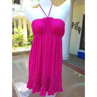 SMALL Pink summer tube dress