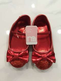 Mothercare Glitter Red Shoes