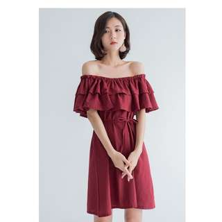 Feline off shoulder dress