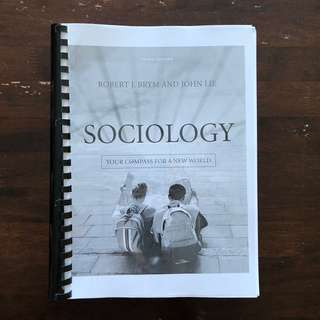 Sociology by Robert J. Brym and John Lie