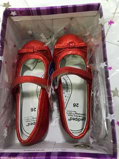 Pediped - Penny Red Sequin Shoes (EU26)