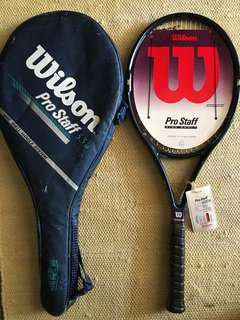 """Wilson Pro Staff 5.5 Si Tennis Racquet Head 95"""", grip 4 3/8 with cover. Brand New with tag n grip wrap intact"""