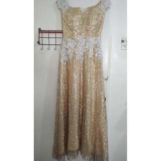 Gold gown for Sale or Rent