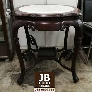 High Quality Vintage Rosewood Tea Table with Marble Top