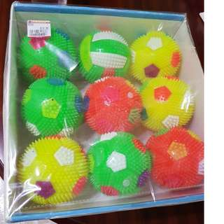 Soft balls with light and whistle