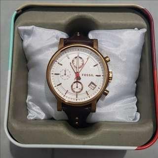 Fossil Boyfriend Chronograph Raisin Leather Watch ES3616