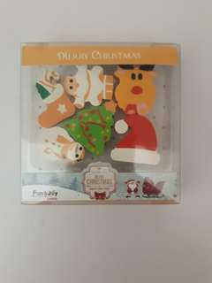 Christmas Eraser Set