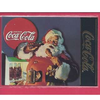 1995 Coca Cola Series 4 - Santa 1937 Chase Card #S-34 Gold Foil Stamp