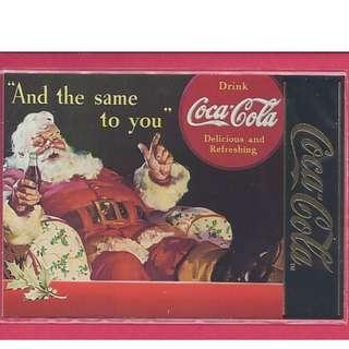 1995 Coca Cola Series 4 - Santa 1939 Chase Card #S-35 Gold Foil Stamp