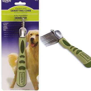 Brand New stainless steel Safari® De-matting Comb for dogs and cats