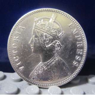 1盧比銀幣 - 維多利亞女王  1878年