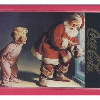 1995 Coca Cola Series 4 - Santa Card S40 Gold Foil Stamp