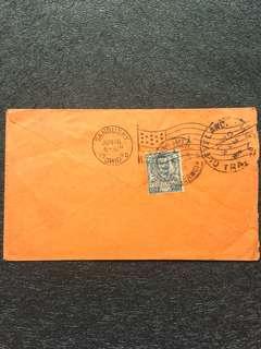 Italy 1905 25c Humbert I Envelope, Palermo to USA