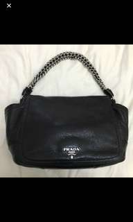 Authentic Prada Cervo Luxe Handbag black
