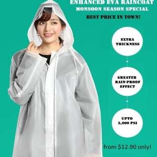 EVA Raincoat, Rainwear - Monsoon Season Promo @ $12.90!! (u.p. $29.90)