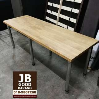 IKEA Akerby Solid Oak Wood Table Top with Height Adjustable Legs