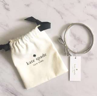 "Authentic Kate Spade Silver ""Love Notes"" Bracelet"