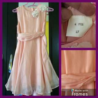 Chiffon dress for little girl