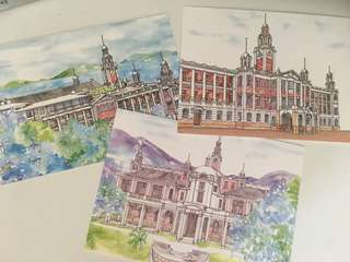 HKU landmark postcards 香港大學地標明信片 (collectibles)