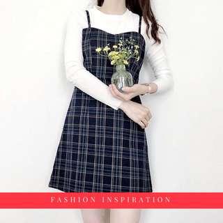 Retro Plaid Dress