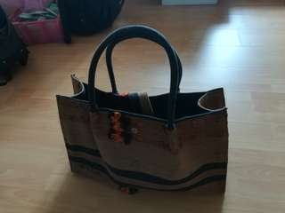 Large capacity handmade basket bag