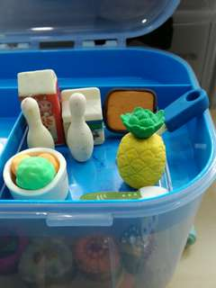 Random assorted collectable erasers