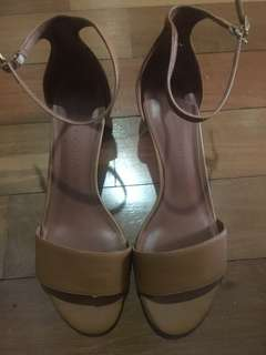 Charles and keith brown strappy sandals