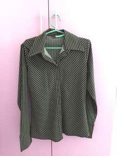 Stripes button down shirt