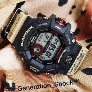 SPECIAL 🌟EDITION : 1-YEAR OFFICIAL VALID WARRANTY in 100% ORIGINAL AUTHENTIC G-SHOCK RESISTANT in RAINFOREST MILITARY DESERT RANGEMAN ABSOLUTELY TOUGHNESS in STEALTH MATT Best Gift For Most Rough Users : GW-9400DCJ-1DR / GW-9400  / GW9400DCJ / DW9400