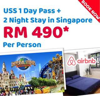 Uss ticket with 2 nights stay in Singapore