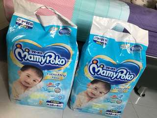 Mamy Poko Extra Dry Skin - Size M + freebie!