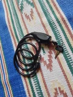 Black Bike Lock