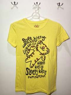 Soft Kitty Yellow Shirt