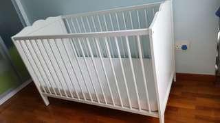 Baby Cot + Mattress Ikea