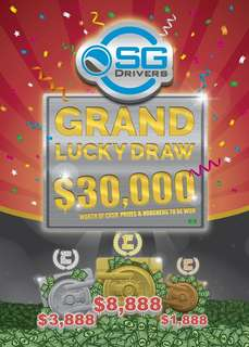 SGDrivers Grand Lucky Draw!
