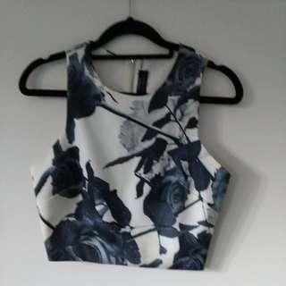 Pilgrim Floral Top - Cropped