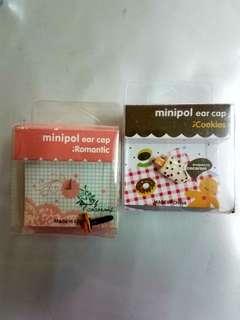 韓國品牌iCookies 手機 手提電話 防麈插 mimipol ear cap(一套25個包郵)