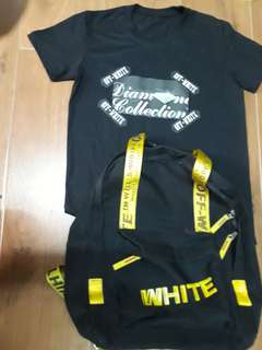 (Offwhite Bundle)Offwhite bag and shirt