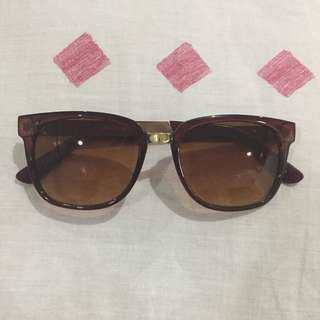 Brown and Gold Sunglasses (from Forever21)