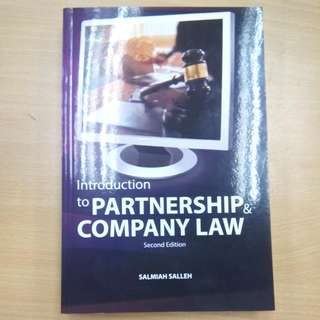 Partnership & Company Law (LAW346)