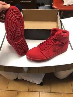 Jordan 1 red suede. Size 8.5 for men. Only $180!!!