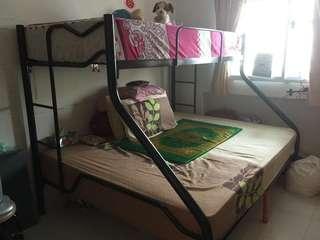Double deck bed frame (no mattress)